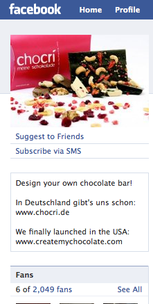 chocri has 2000 Facebook Fans