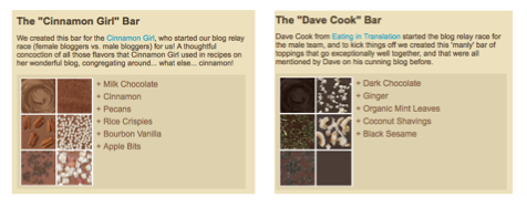The Cinnamon Girl and Dave Cook Bar from chocri