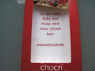 inside the chocri packaging