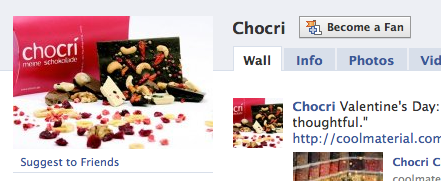 Suggest chocri to your facebook friends
