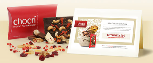Gift Certificate from chocri