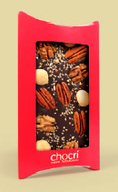 Customized chocolate bar with looots of nuts